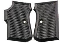 Grips, Black, Checkerd Plastic, Used, Original