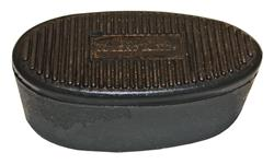 "Recoil Pad, Slip-On, Black Rubber w/ Knight Logo, 1"" Thick, Grooved"