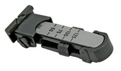 Tangent Rear Sight Assembly - Anschutz Factory Original, Steel, Fully Adjustable