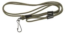 Lanyard, Heavy-Duty, Green Nylon, New G.I. Surplus (Incl Adj Rubber Bushings)