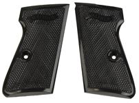 Grips, Black Plastic w/o Screws & Escutcheons, New Factory Original