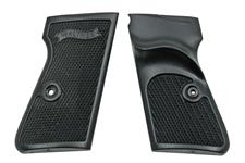 Grips w/ Thumbrest & Screws & Escutcheons, Black Plastic, New Original
