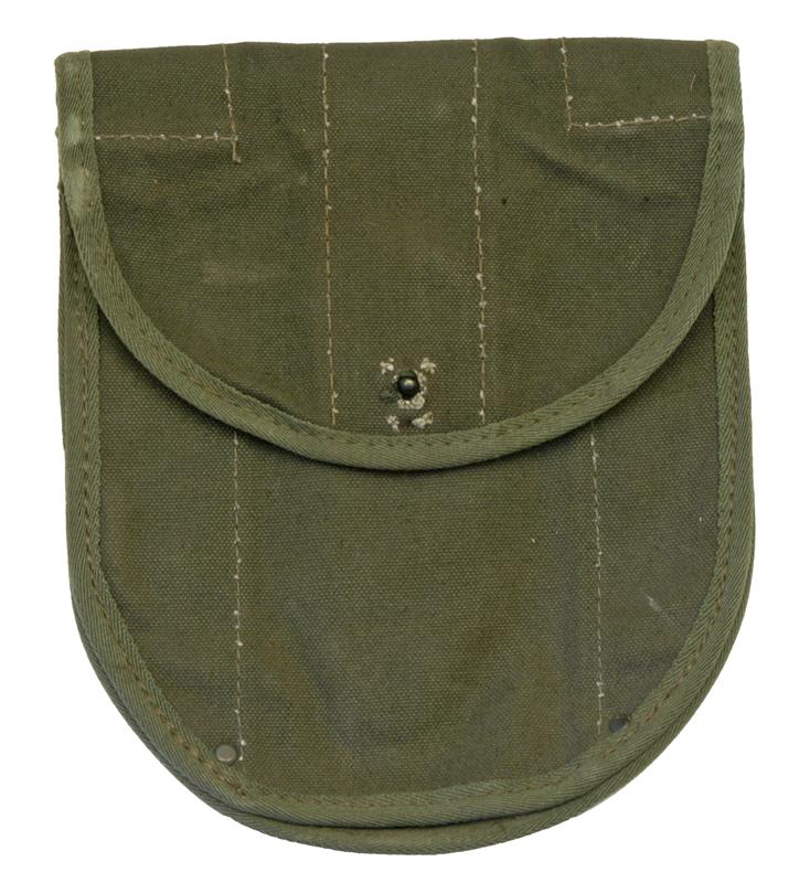 G.I. Canvas Folding Shovel Cover (Missing Either the Snap Button or Grommet)