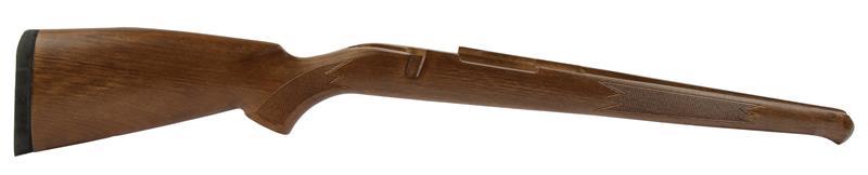Stock, Sporter, Checkered Hardwood, RH Cheekpiece, Schnabel & Rifle Pad