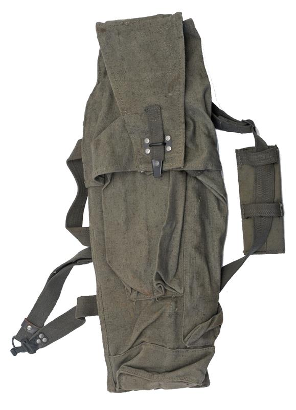 Gunner's Rocket Bag, East German, Holds 2 Rockets & 2 Prop Charges, Canvas