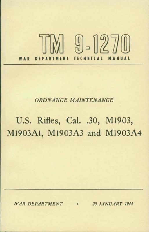 WWII Springfield 03-03A3 Technical Manual