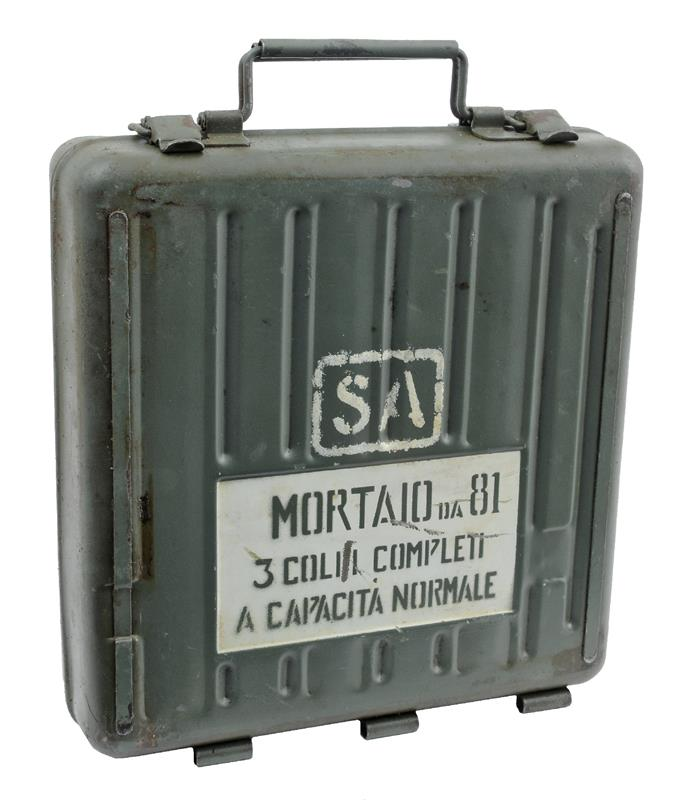 Mortar Can, 81mm, Italian M35, Used Very Good Condition, Original