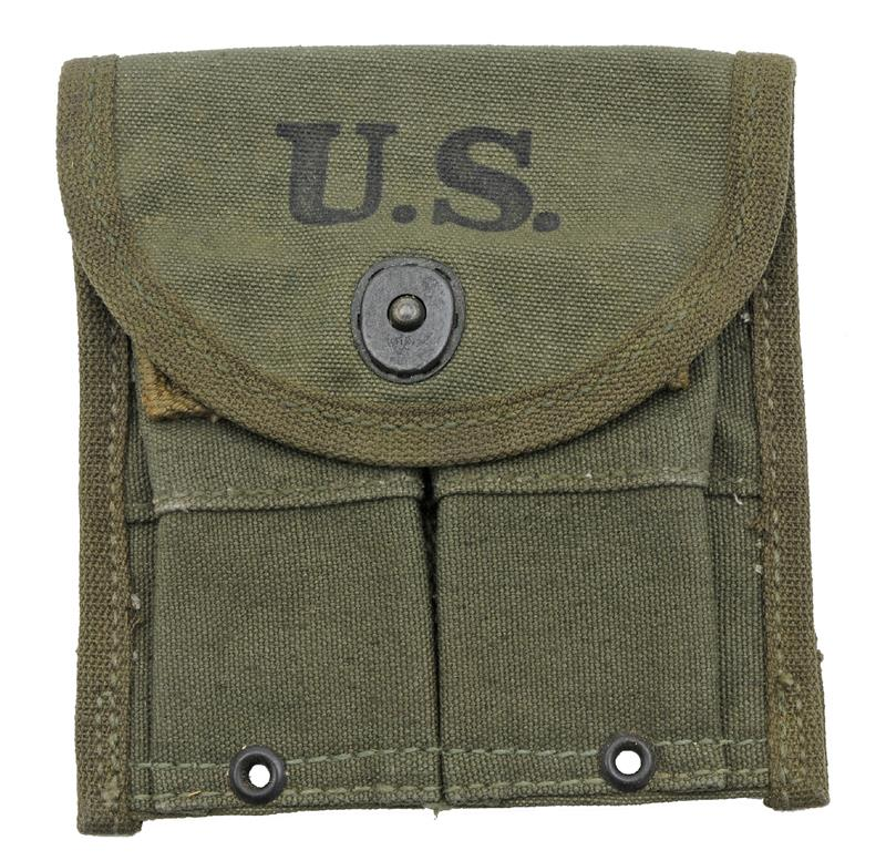 Magazine Pouch (Belt), G.I. Dated 1944/1945, Marked US, Exc to Like New