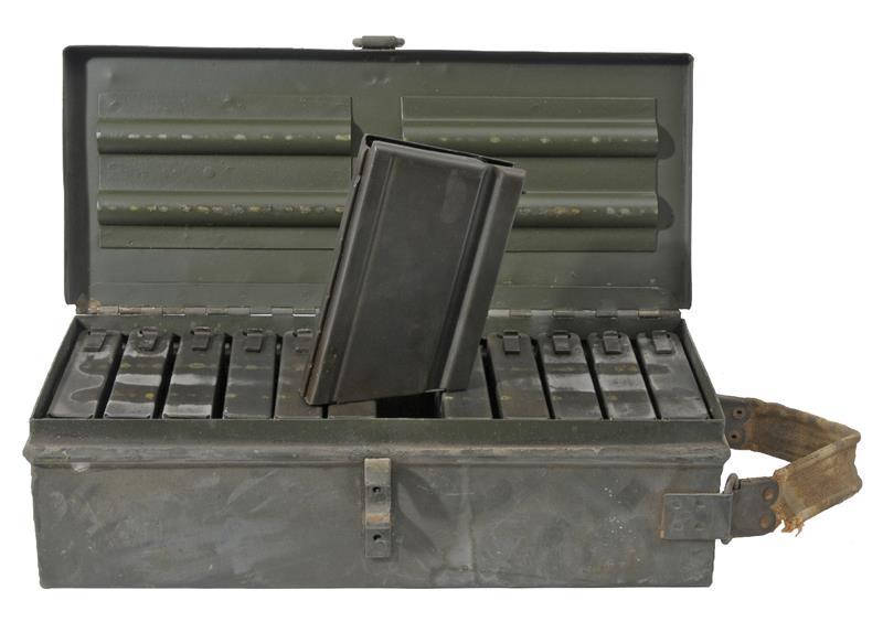 Magazine, Israeli Dror LMG, 8mm, 20 Rd., Case of 12 in the Orig. Steel Box, Used