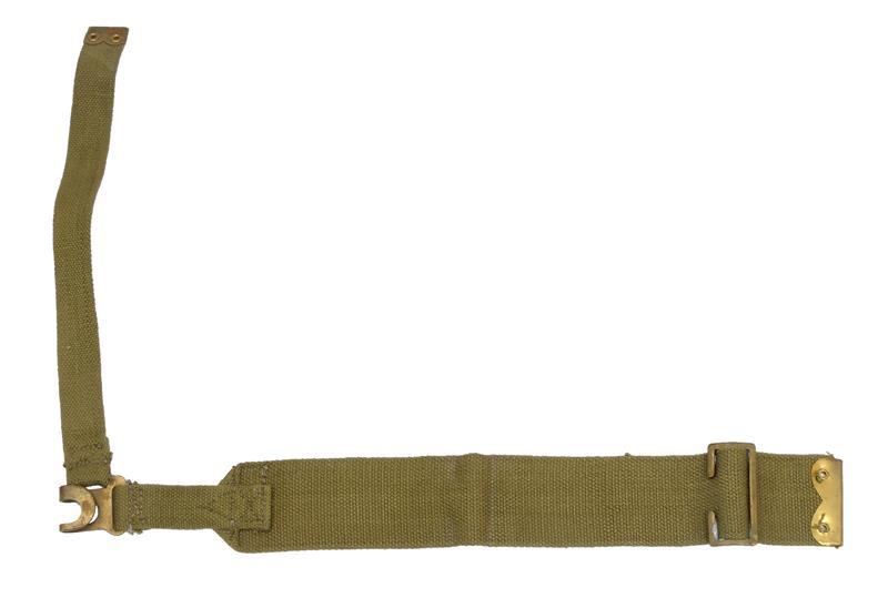 L-Strap, RH, Khaki Web, For Attachment to British WWII P37 Lrg & Small Haversack