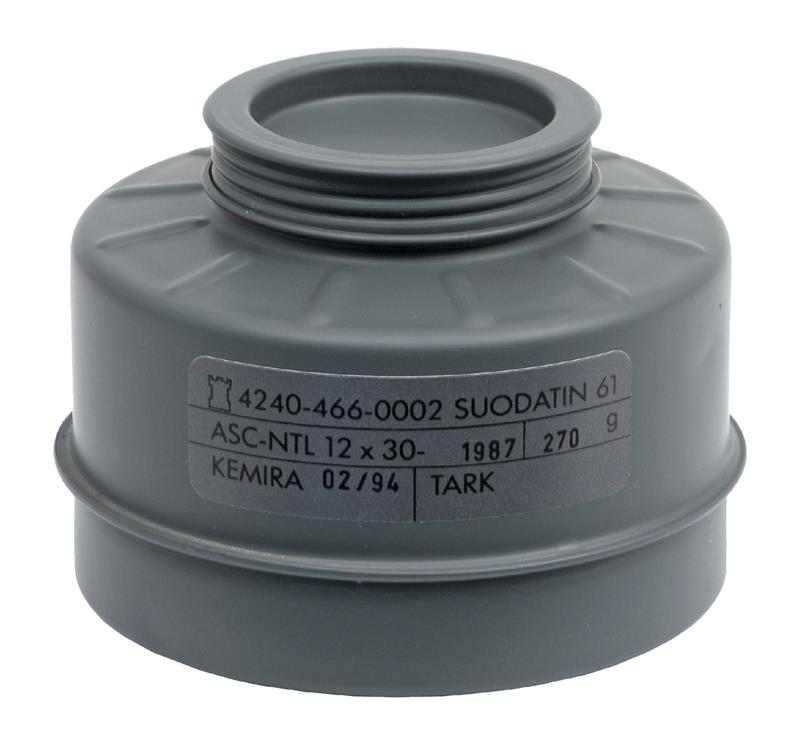 Filter Canister, New Unissued (For Finnish M61 Gas Mask)