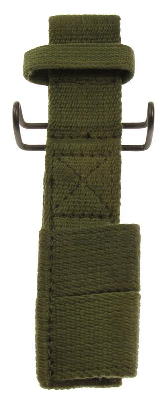 Bayonet Frog w/U S  G I  Belt Clip, OD Canvas (For Tubular