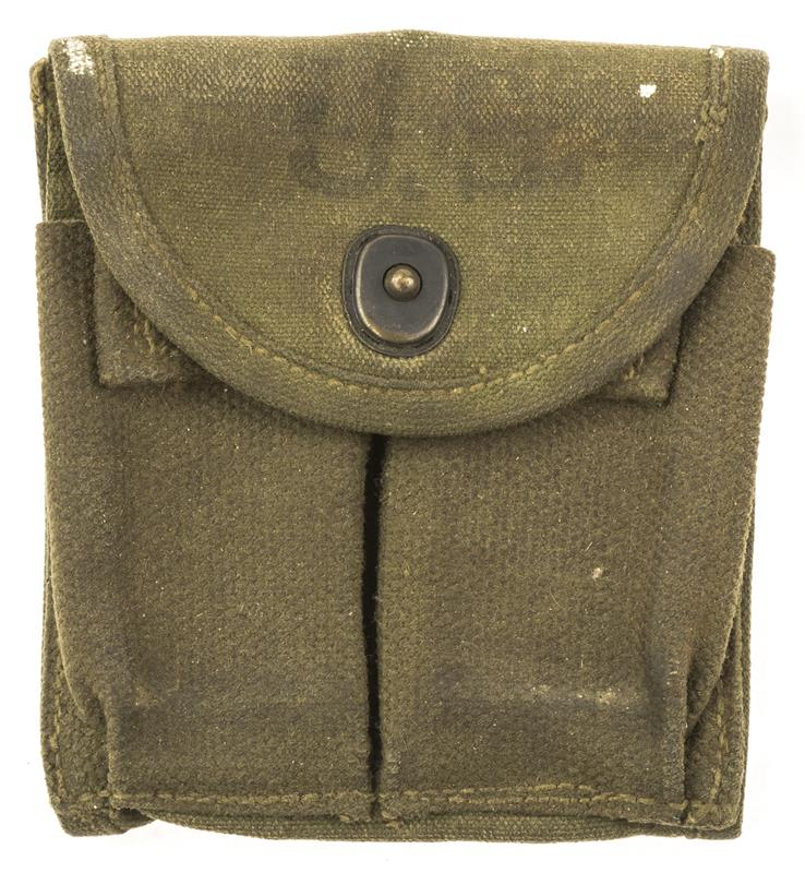 Magazine Stock Pouch, GI Issue, Various Mfg's, 1940's Dated, Used Fair Condition
