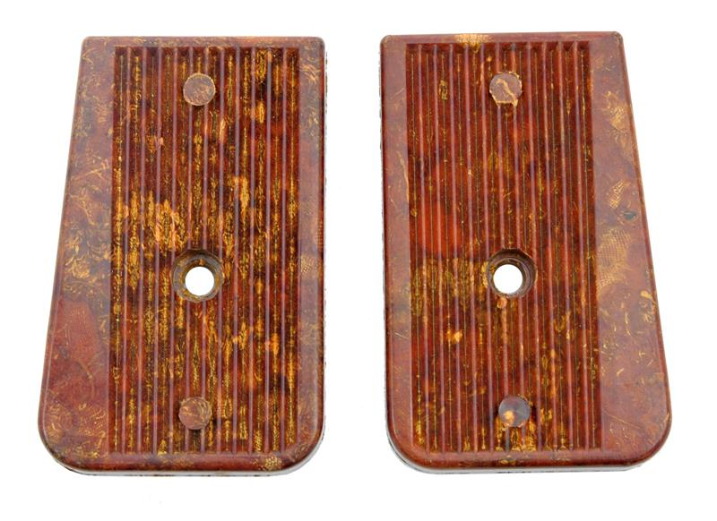 Trigger Group Assembly Panels, Pair, Brown Plastic, Unissued