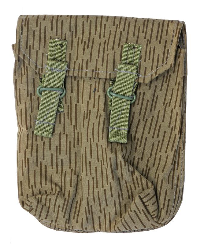 Mag Pouch, Straight, Green Straps, Belt Loops & Clips (No Pkt for Cleaning Kit)