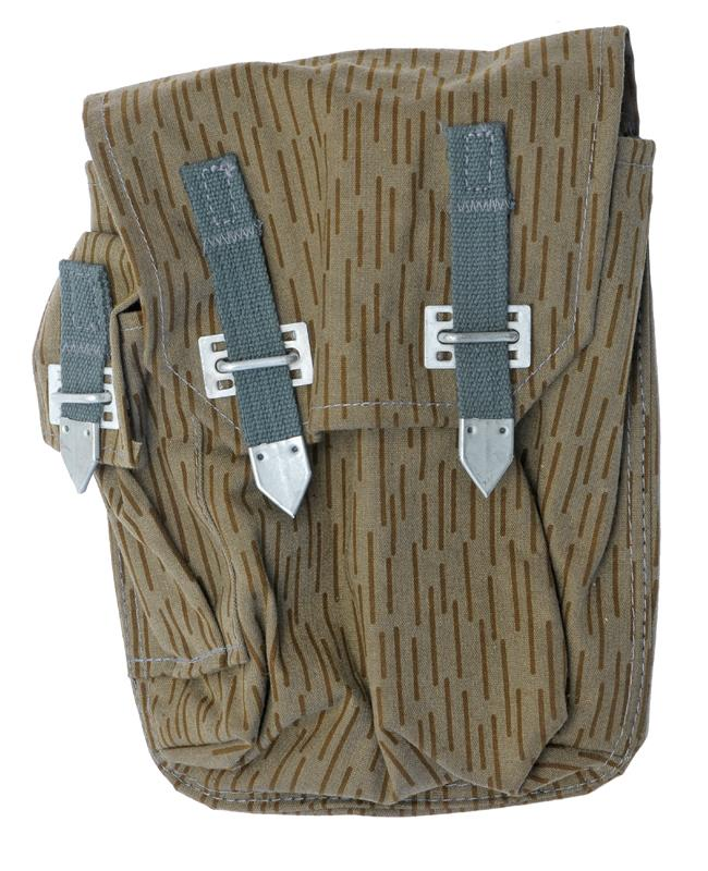 Mag Pouch, Straight, Blue Straps & Belt Loops w/Side Pkt for Cleaning Kit, Exc