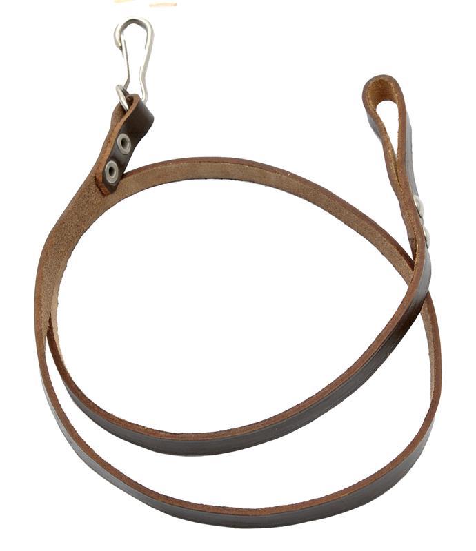 Lanyard w/ Loop & Snap Hook, Dark Brown Leather, OAL 31-1/2