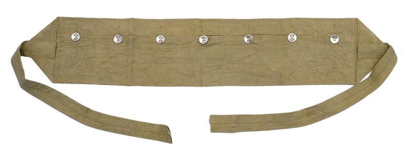 Bandoleer, 7 Pocket, OD Cloth, Reproduction