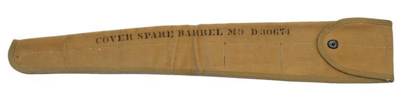 Barrel Cover, M9 Spare, Khaki Canvas, Unissued