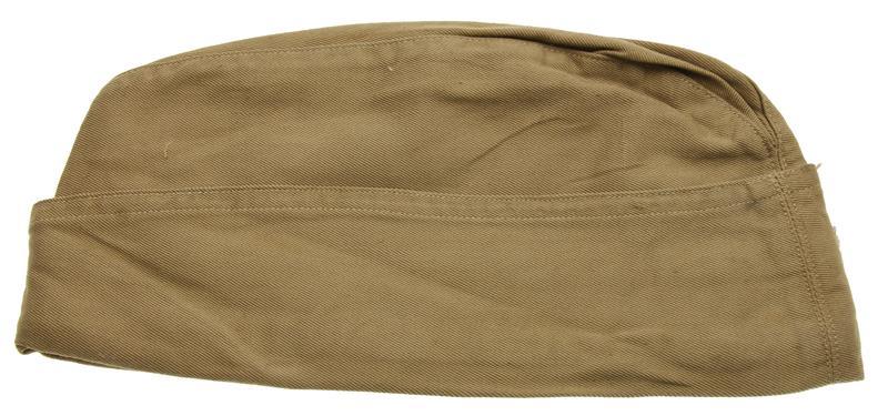 Garrison Cap, WWII Era, Khaki Cotton, Size 6-1/2, Good to VG