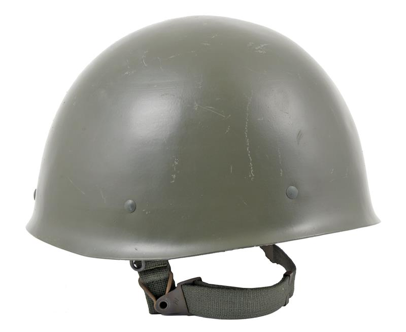 Swedish M37-65 Helmet, Olive Drab Steel, Very Good to Excellent Condition