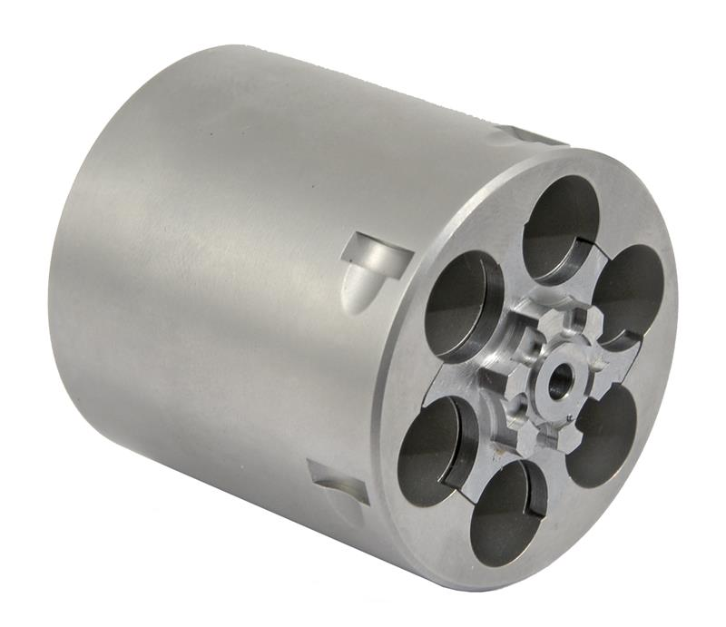 Cylinder Assembly, .357 Mag, 6 Shot, Non-Fluted, Glass Bead Finish, Stainless
