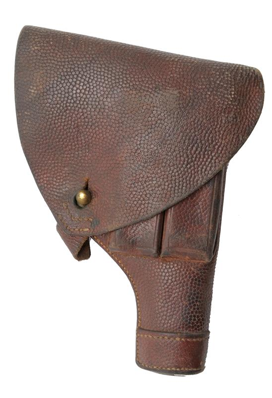 Holster, Leather w/ 2 Outside Mag Pouches, 2