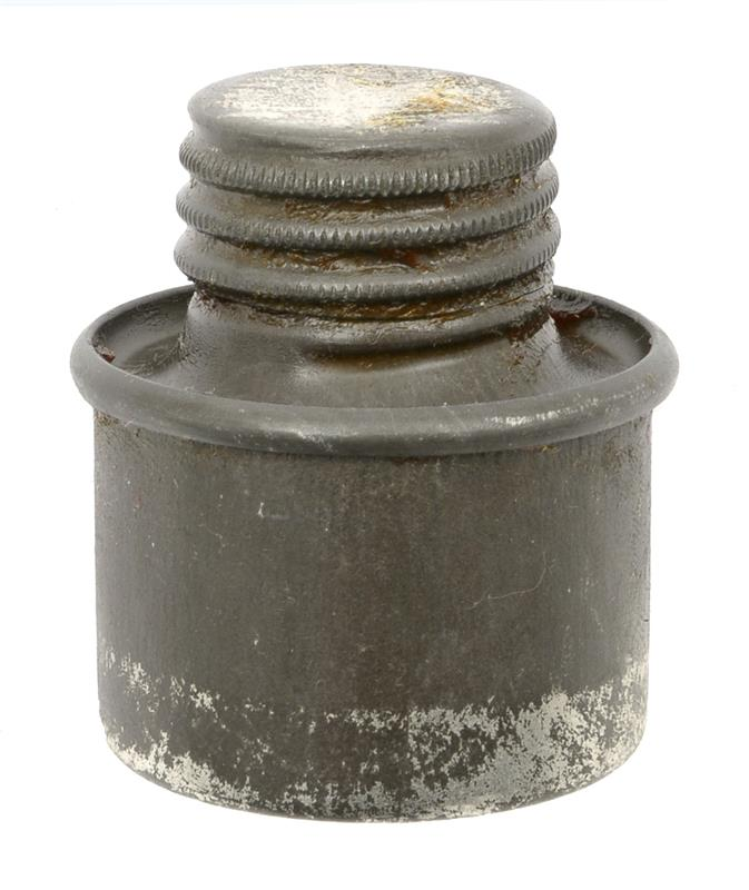 Oil Bottle, Metal, Round, Single Compartment,Russian Made for WWII Mauser Rifles