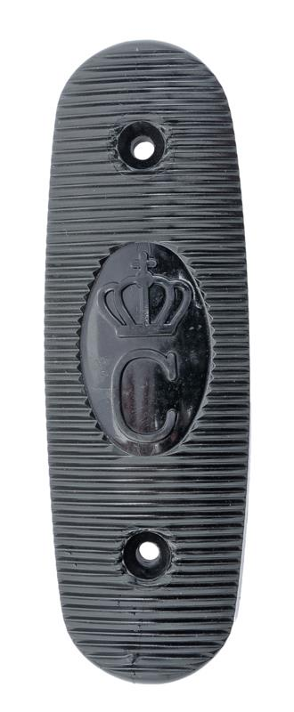 Buttplate w/ Swedish Crown, Black Plastic, Original, New