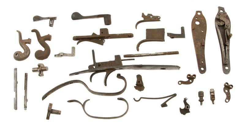 Double Barrel Shotgun Parts Grab Bag, 25 Pc., Foreign & Domestic Parts, Used