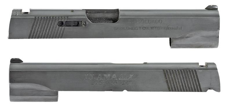 Slide, .38 Super, Stripped, Full Size, Blued (Marked Llama Max-I .45 L/F)