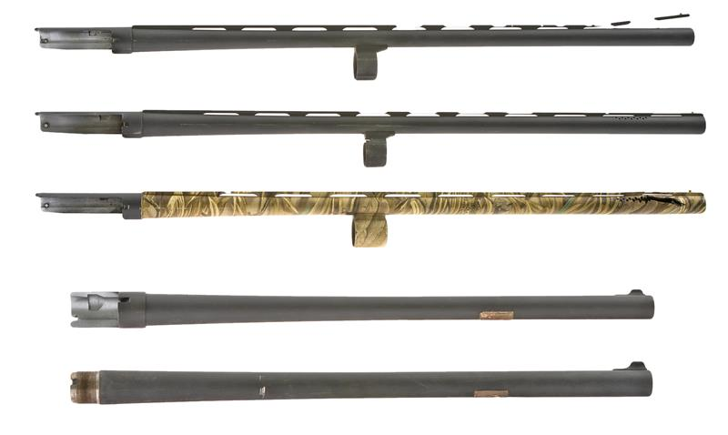 Bundle of Five Charles Daly 12 Ga Semi-Auto Shotgun Barrels, Damaged & Unusable