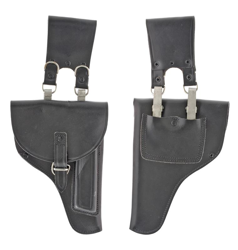 Holster, Black Leather, Finnish Police Issue, Dated 1990's, New