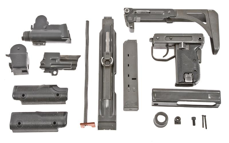 Parts Kit Less Receiver & Barrel, w/ 25 Rd. Magazine, Orig. IMI, Used VG to Exc