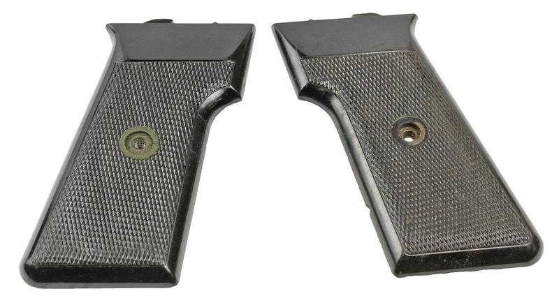 Grips, Original, Circa 1960, Black Checkered Plastic | Gun Parts Corp