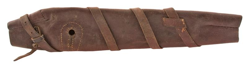 Breech Cover, Leather, Missing Buckle, Portuguese Issue, Used - Fair to Good