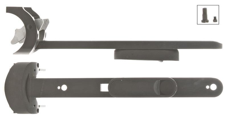 Forend Iron Assembly Less Screws, 12 Ga, Blued, Plain (Lock Screw Type)
