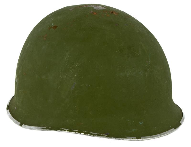 Helmet w/ Seamed Rim Less Chin Strap, Used