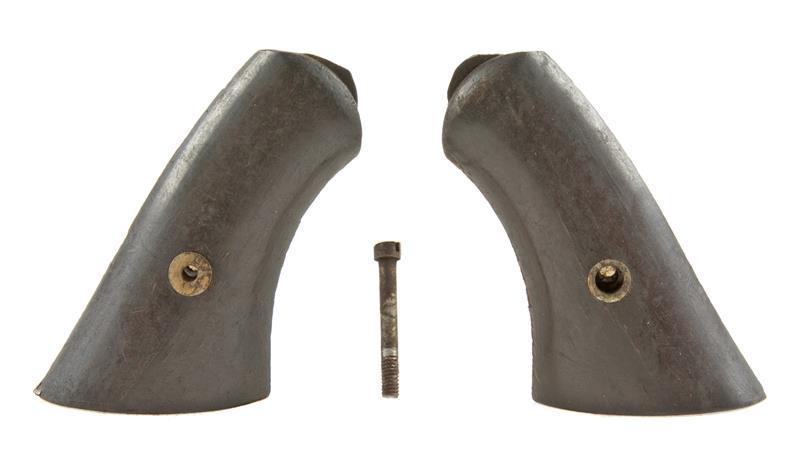 Grips, Square Butt, Smooth Walnut w/ Escutcheons & Screw   Gun Parts