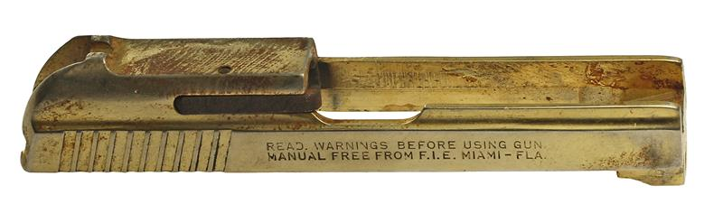 Slide, .25 Cal., Stripped, Gold, Use Type III Firing Pin, Used Factory Original