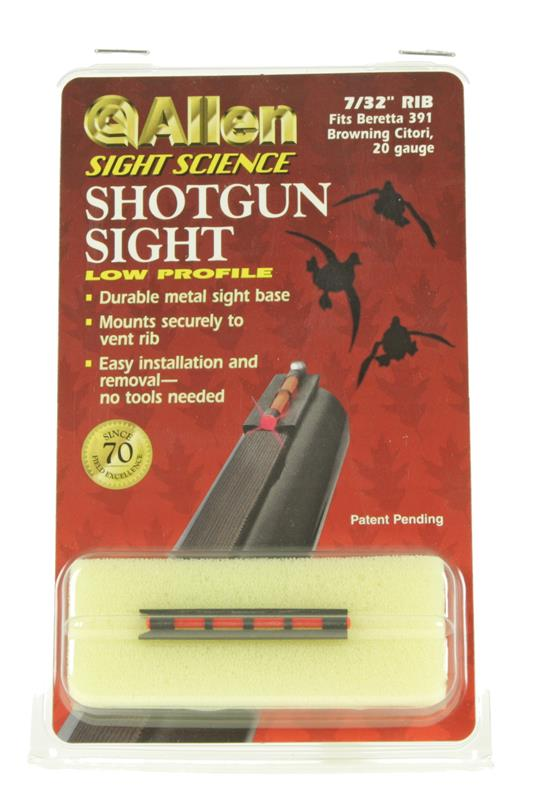 Low Profile Shotgun Sight, Fits 7/32