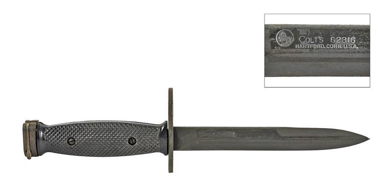 Bayonet w/o Scabbard, M7, Used (Good), Original Colt Mfg (Marked Colt 62316)