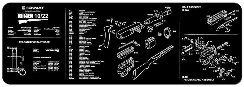 TekMat Rifle Mat, Ruger 10-22