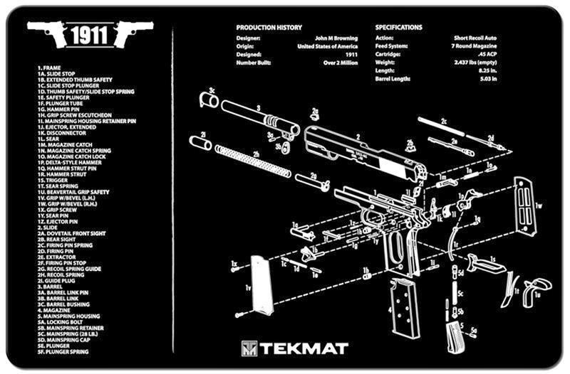 TekMat Handgun Mat, 1911