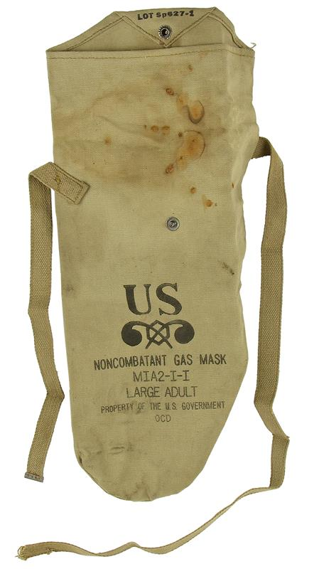 Carry Bag, For M1A2-1-1 Non-Combatant Gas Mask, Size Large Adult