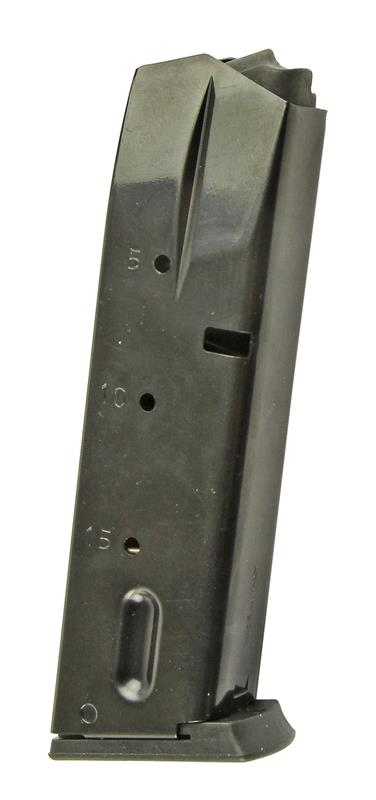 Magazine, 9mm, 15 Round, Blued, New (MecGar)