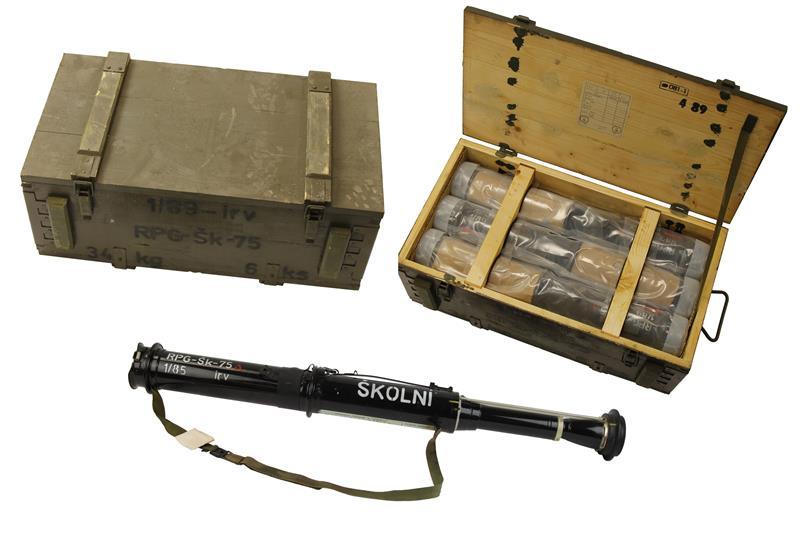 Training Rocket Czech Army Rpg Sk75 68mm Wooden Crate Of Six Gun