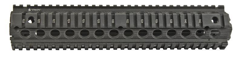 Quad Battlerail Handguard, Two Piece, Rifle Length, Black Aluminum (Troy Ind.)