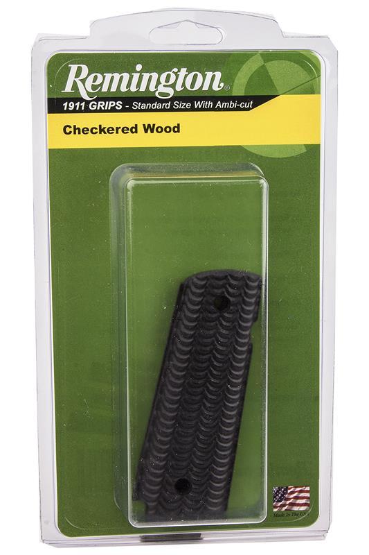 Grips, Black Scalloped Wood, New Factory Original