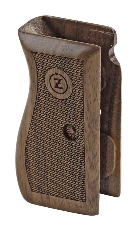 Grip, One Piece, Laser Cut Checkered Walnut w/CZ Logo